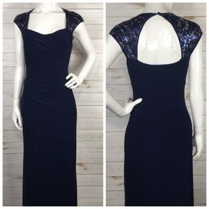 Lauren Ralph Lauren Evening Navy Dress